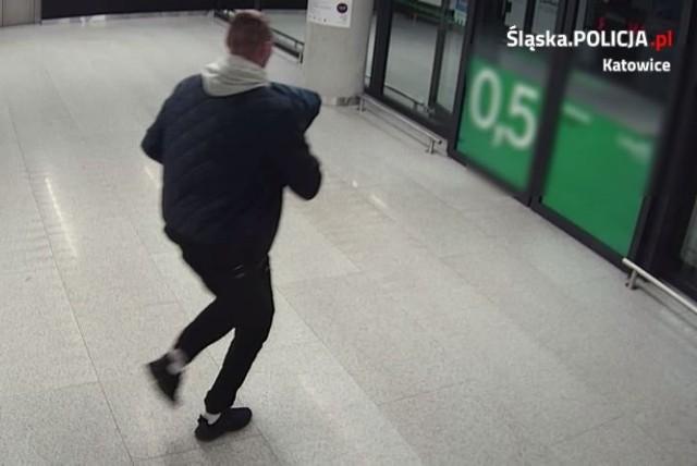 Katowicka policja publikuje zdjęcia złodzieja, który ukradł 5 par spodni ze sklepu w Galerii Libero