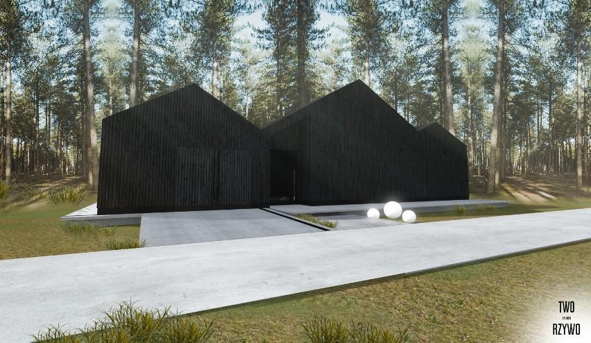Pod Warszawą powstał Dom Azyl. Za dnia jest widoczny, po zmierzchu trudno go dostrzec