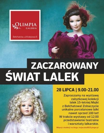 Wystawa lalek w galerii Olimpia odbędzie się dziś w godz. 9-21.