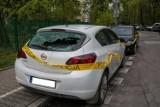 Kraków: Wandale niszczyli auta na ul. Szafera  [ZDJĘCIA, WIDEO]