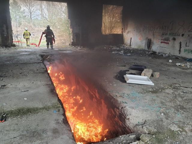 Podpalacz w Wielką Sobotę podpalił odpady, a inne przygotował do podpalenia.