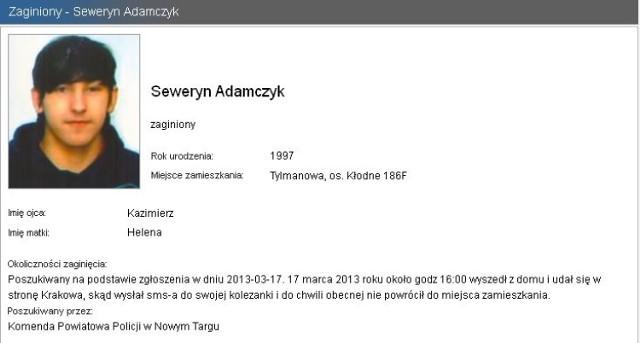 Lista osób zaginionych w Małopolsce