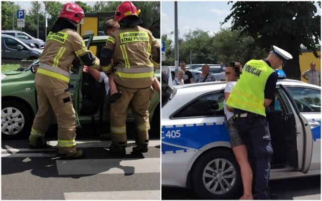 Wypadek na ulicy Kaliskiej we Włocławku