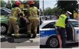 Wypadek na Kaliskiej we Włocławku. Kierująca szarpała się z policjantem [zdjęcia]