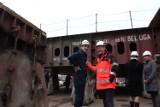 Gdynia. Flesz z przeszłości. 15.11.2010. Położenie stępki pod budowę nowego statku w Stoczni Crist