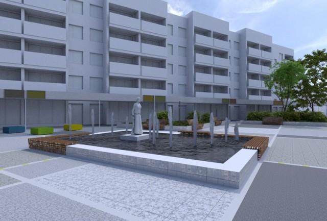 Plac Korfantego w Tychach - tak będzie wyglądał po remoncie.
