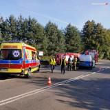 Groźny wypadek motocyklisty na Śląsku Cieszyńskim. 27-letni Ukrainiec jest w ciężkim stanie