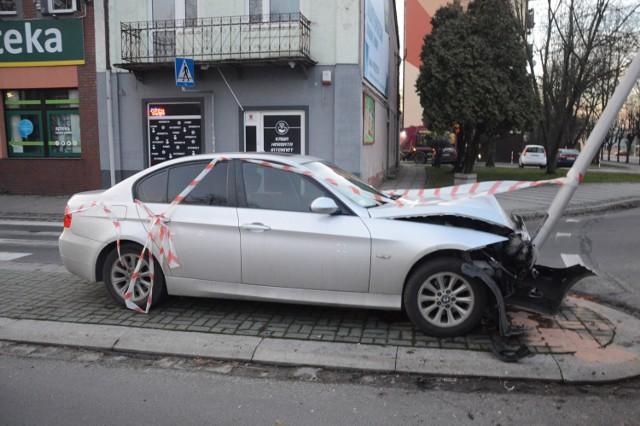 Kierujący pojazdem marki BMW nie wymagał hospitalizacji