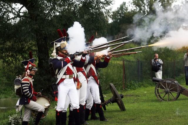 Bitwa pod Legnicą, inscenizacja starcia zbrojnego z 1760 roku.