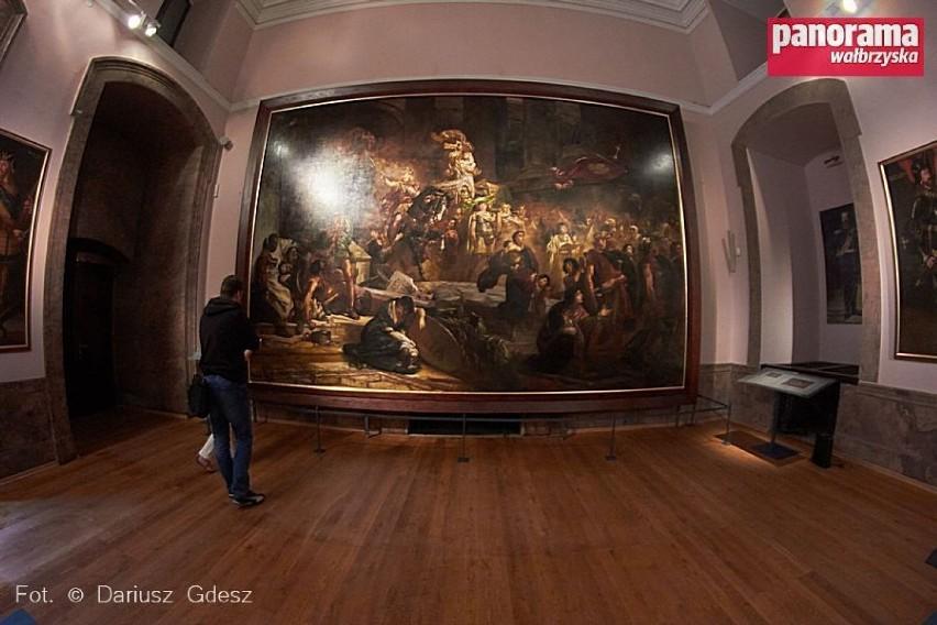 afab55f3 Jeden z największych polskich obrazów prezentowany w zamku Książ w ...