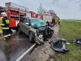 Wypadek na drodze 212 koło Nieżychowic. Kierowca zakleszczony w aucie [ZDJĘCIA]