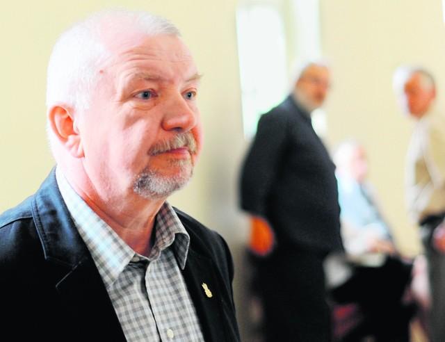 Andrzej Rozpłochowski podczas wczorajszej rozprawy
