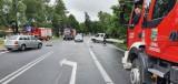 Wypadek na DK 78. Samochody zderzyły się na Kalinówce. Auto dostawcze nie ustąpiło pierwszeństwa