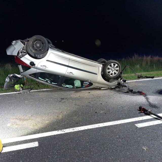 Tak wyglądał wczorajszy wypadek nad DK 41 między Nysą a  Prudnikiem.