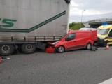 Lubicz: Wypadek na autostradzie A1. Zobacz zdjęcia!