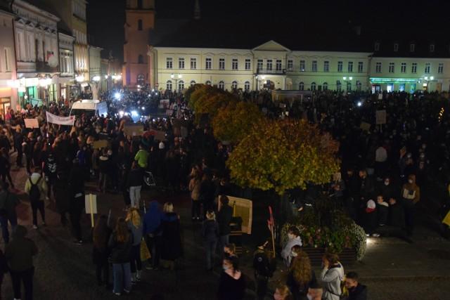 Protest kobiet w Oświęcimiu, 28 października 2020r.