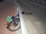 W Ustce pijany rowerzysta uderzył głową w barierkę. Trafił do szpitala
