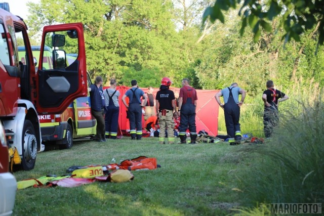Akcja ratunkowa przy ul. Narutowicza w Opolu.