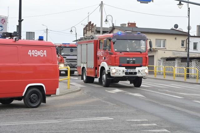 Strażacy z OSP Łasin uczcili swoje święto przejeżdżając ulicami miasta
