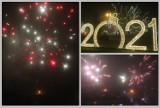 Włocławek. Powitanie Nowego Roku 2021 i fajerwerki na osiedlu Południe [zdjęcia]