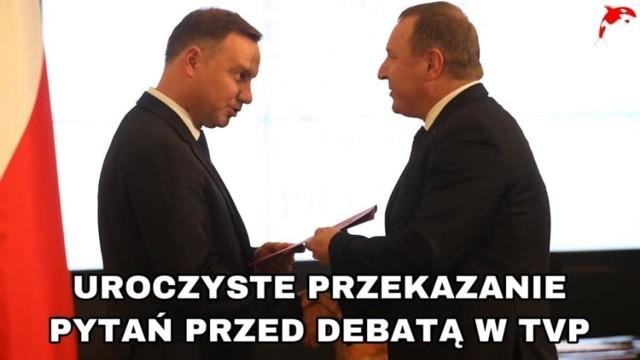 Andrzej Duda nie weźmie udziału w debacie wyborczej na antenie telewizji TVN. Dlaczego? Chodzi o zyski. O co jeszcze?    Zobacz memy internautów na kolejnych planszach.