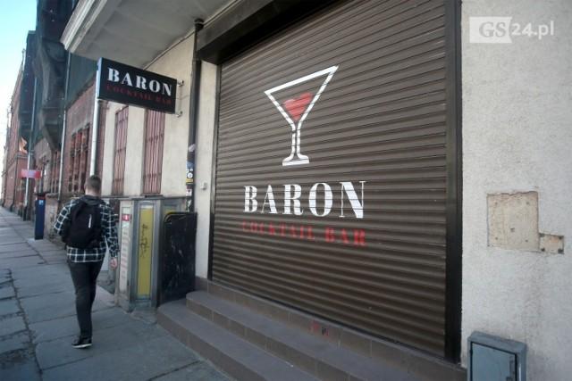 Zamknięcie lokalu Baron w Szczecinie