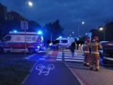 Groźnie wyglądający wypadek na Podzamczu w Wałbrzychu. Zdjęcia!
