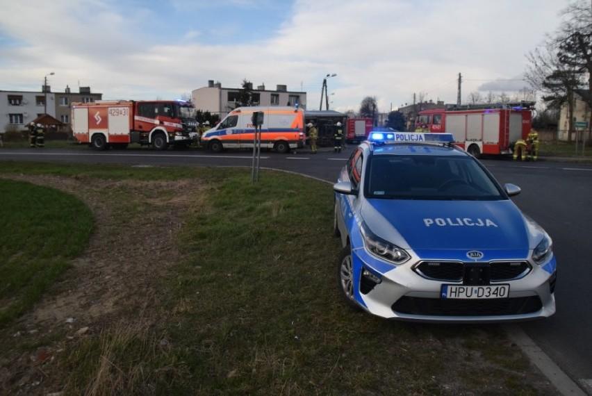 Gmina Kłecko. Wypadek osobówki i samochodu dostawczego