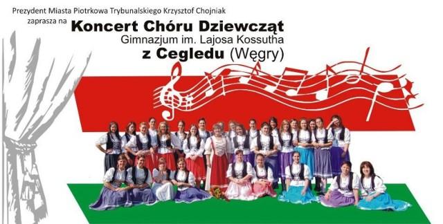 Miejski Ośrodek Kultury zaprasza na koncert Chóru Dziewcząt Gimnazjum im. Lajosa Kossautha z Cegledu  na Węgrzech