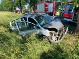 Pod Dębicami samochód uderzył w drzewo. Cztery osoby poszkodowane