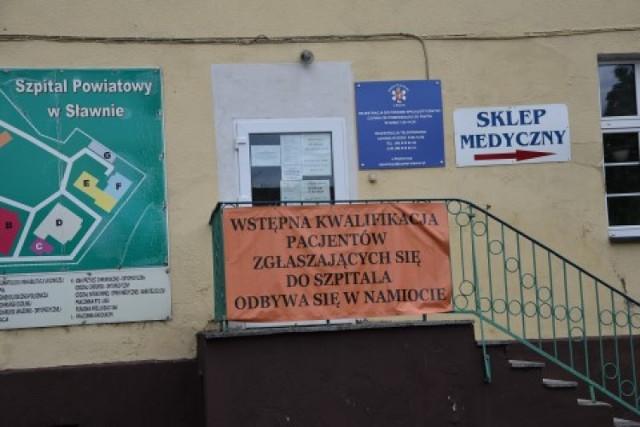 Szpital Powiatowy w Sławnie  w czasie pandemii koronawirusa