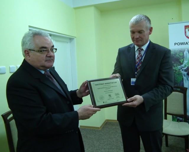 Certyfikat akredytacyjny dla gorlickiego szpitala