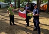 Harcerze stracili flagę Polski i proporzec. Co się wydarzyło na obozie w gminie Studzienice?