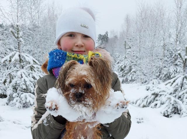 Wasze zwierzaki uwielbiają zabawy w śniegu