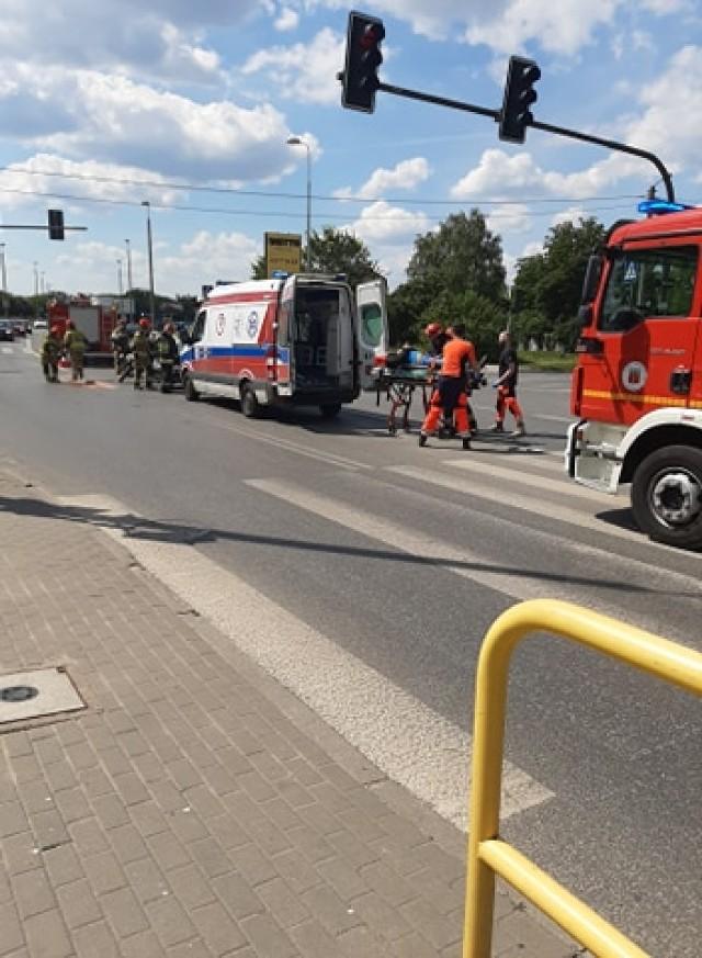 Do groźnie wyglądającego wypadku doszło na skrzyżowaniu Solskiego i Bielickiej.