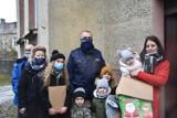 KPP Śrem. Śremscy mundurowi wraz z lokalnymi firmami wspierają potrzebujących