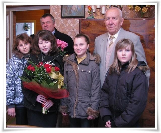 Dyrektora odwiedzili uczniowie z zaborowskiej szkoły