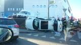 Katowice: Wypadek przy 3 Stawach. Zderzyły się dwa auta  [ZDJĘCIA]