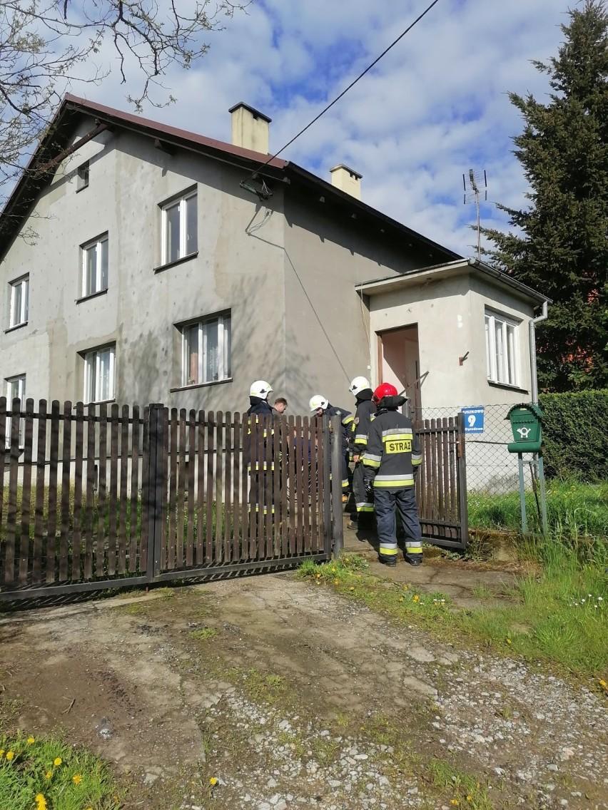Uszkodzony rurociąg gazowy w Juszkowie gm. Pruszcz Gd. Ewakuowano mieszkańców z 5 domów  ZDJĘCIA