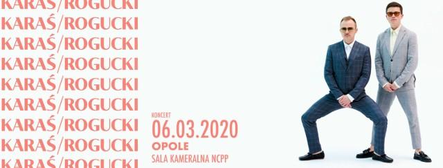 """Duet KARAŚ/ROGUCKI pojawił się na polskim rynku muzycznym tuż po ogłoszeniu zawieszenia działalności zespołów Coma i The Dumplings.   Kuba Karaś odpowiada za produkcje, a Piotr Rogucki zajmuje się tekstami, a obaj dopieszczają muzykę.   Na początku 2020 roku ukazał się ich album """"Ostatni bastion romantyzmu""""  W piątek w Sali Kameralnej NCPP usłyszymy, jak materiał brzmi na żywo.  Początek koncertu o godz. 20.00  Bilety: 60 zł (1. pula); 65 zł (2. pula), 70 zł (3. pula)."""