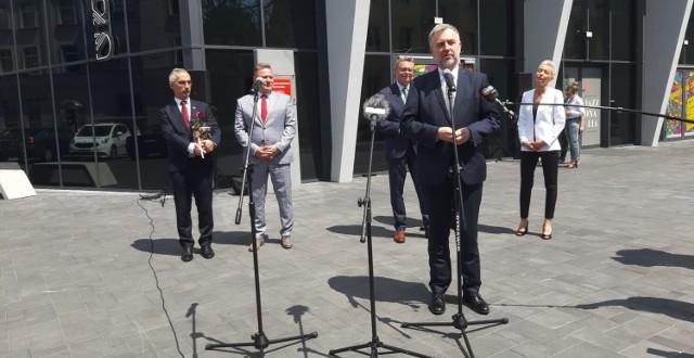 Marszałek Marek Woźniak przyjechał do Konina by dokonać oficjalnego otwarcia Domu Kultury Oskard