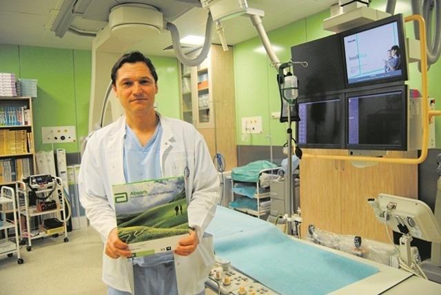 Ordynator Aleksander Żurakowski liczy, że wkrótce nowoczesne stenty znów w ramach promocji trafią do kliniki