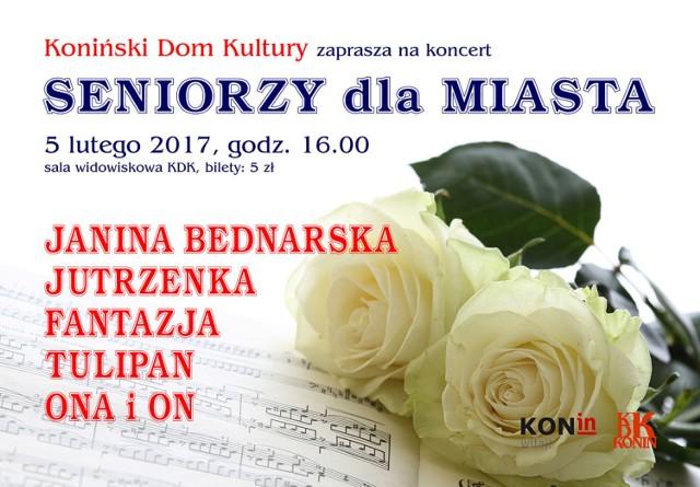 Seniorzy dla miasta. Wyjątkowy koncert w Konińskim Domu Kultury