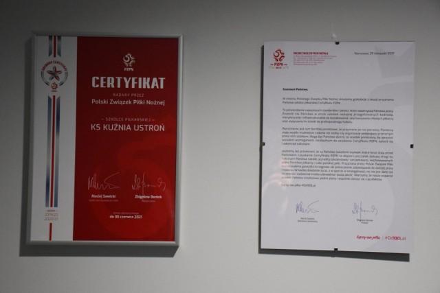 Kuźnia Ustroń otrzymała srebrną gwiazdkę Programu Certyfikacji PZPN