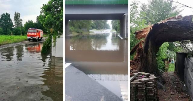 Podtopienia i zalania na Pomorzu. Strażacy usuwali skutki ulew i burz