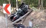 Tragiczny wypadek pod Gliwicami, w Rachowicach. Zginął kierowca bmw