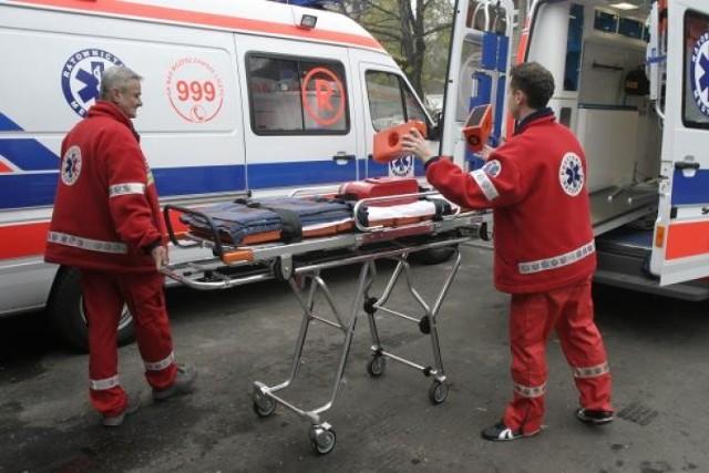 Wypadek gimbusa w Płutowie. Jedno dziecko ranne