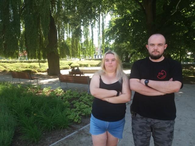 Agnieszka Skibińska i Filip Spiczak: Mamy dosyć tego towarzystwa przed oknami.
