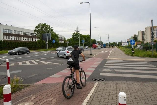 Skrzyżowanie Kamiennej i Gajowej - tu często dochodzi do potrąceń rowerzystów