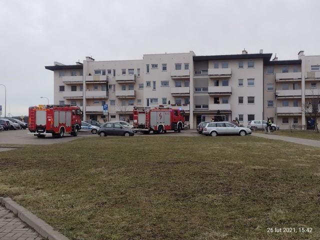 Jak się dowiadujemy, powodem akcji była informacja o rzekomym ładunku wybuchowym w jednym z budynków na inowrocławskim Rąbinie